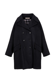 Double-breasted oversize coat