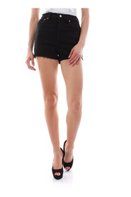 LEVIS 77879 0002 - RIBCACE SHORT SHORTS AND BERMUDAS Women BLACK