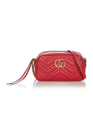 Pre-owned Small GG Marmont Matelasse Leather Crossbody Bag
