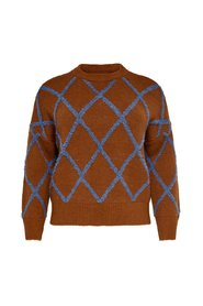 Knitted Pullover Curvy patterned