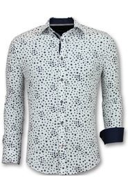 Overhemden Regular Fit Bloemen Blouse Mannen 3007