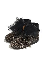 GLITTERED ANKLE BOOT WITH BOW IN