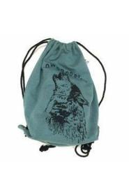 KNAST by KRUTTER - Sweat Gym Bag, Howling Wolf - Knast Dark Green