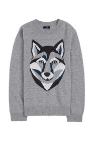 Sweater with Wolf print