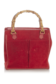 Pre-owned Suede Handbag Leather