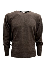 MEN'S NECK SWEATER MADE ITALY Cashmere Wool and Silk