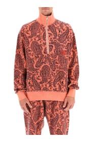paisley reverse fleece sweatshirt
