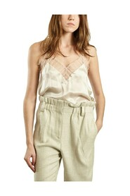 Silk Birma Top with Laces Details