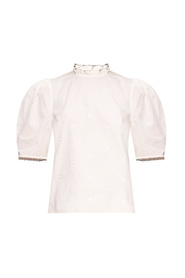 Boden top with puff sleeves
