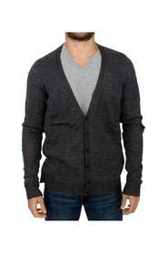 full button wool cardigan