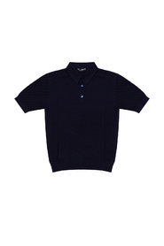 Silk polo shirt