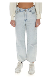 washed high-waisted cropped jeans