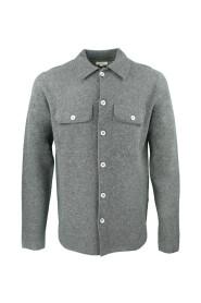 Sur-chemise grise en Laine Needle Homme