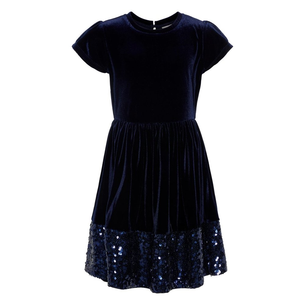 Dress sequin embellished velour