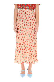 kelly printed midi skirt