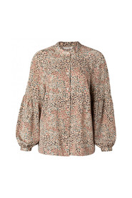 PRINTED PUFF BLOUSE