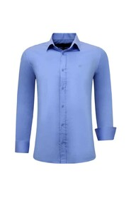 Luxe Blanco Overhemden Lange mouw - Slim Fit - 3082