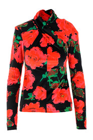 top featuring an all-over floral print