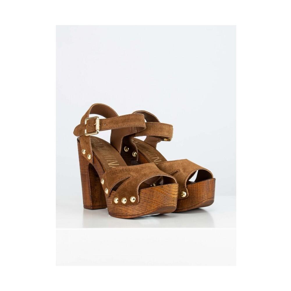 Fracomina Brown Open Sandals Fracomina