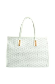 brukt Marquise Coated Canvas Leather Tote Bag