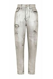 Foiled Denim Jeans