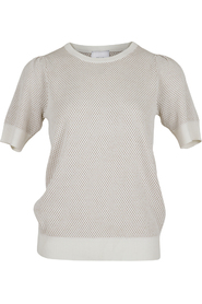 Mary Knit Tee Off White
