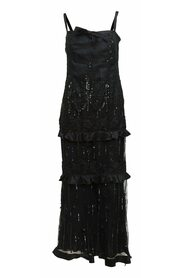Pre-owned Embellished Silk Evening Gown