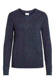 Blå Vila virile L / S O-Neck Sweater