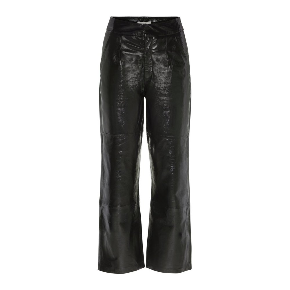 Trousers High-Waist Leather