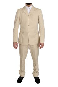 Two Piece 3 Button Solid Suit