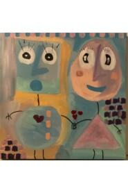 Maleri i pastel farver