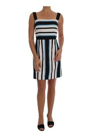 Striped Cotton A-Line Dress