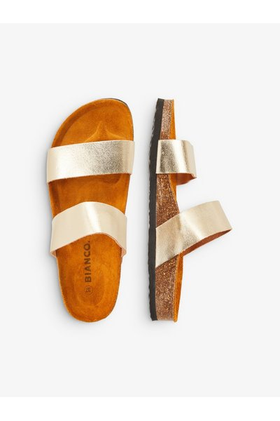 Gold Sandals Twin Strap | Bianco | Fitflops