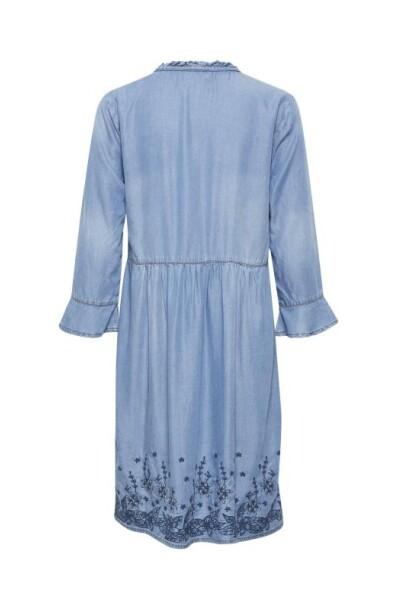 60102 Denim Blue Ellis Dress Cream Hverdagskjoler