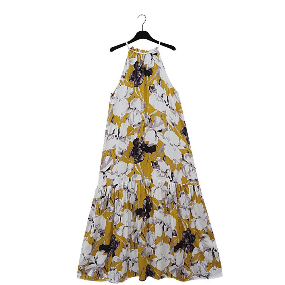 IDA Long Flower Print Dress