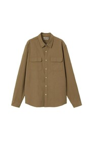 Cotton lyocell shirt with pockets