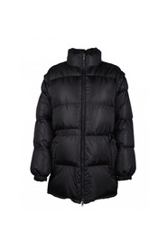 Down jacket with removable sleeves