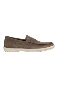 Suede loafers moccasins