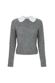 Pull mousseux col claudine amovible MK-23M-3073-044