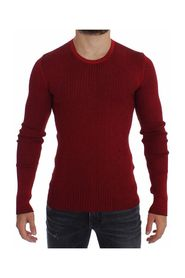 Silk Crewneck Ribbed Sweater