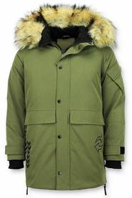 Vinterjakke mænd Parka jakke Quilted Coat Long Winterjacket