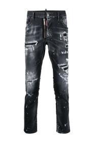 Black Ripped Wash D2 Mi Skinny Twinky Jeans
