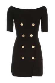 KNITTED DRESS W/GOLD BUTTONS