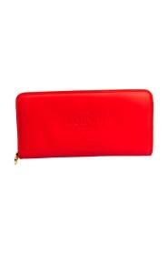 Glidelås Kalveskinn lang lommebok for kvinner (to ganger)
