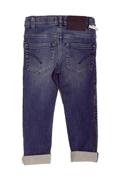 Qualité en gros Blue SKINNY JEANS WITH SIDE PRINTS Dondup Jeans VxZYI