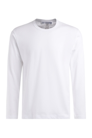 T-Shirt manica lunga in cotone bianco