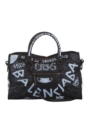 Small Motocross Graffiti Classic City Leather Satchel