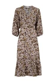 Anela Graphic Flower kjole