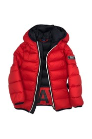 PADDED JACKET WITH BLACK ZIP HOOD
