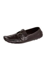 Brukte Leather Monte Carlo Slip On Loafers i skinn